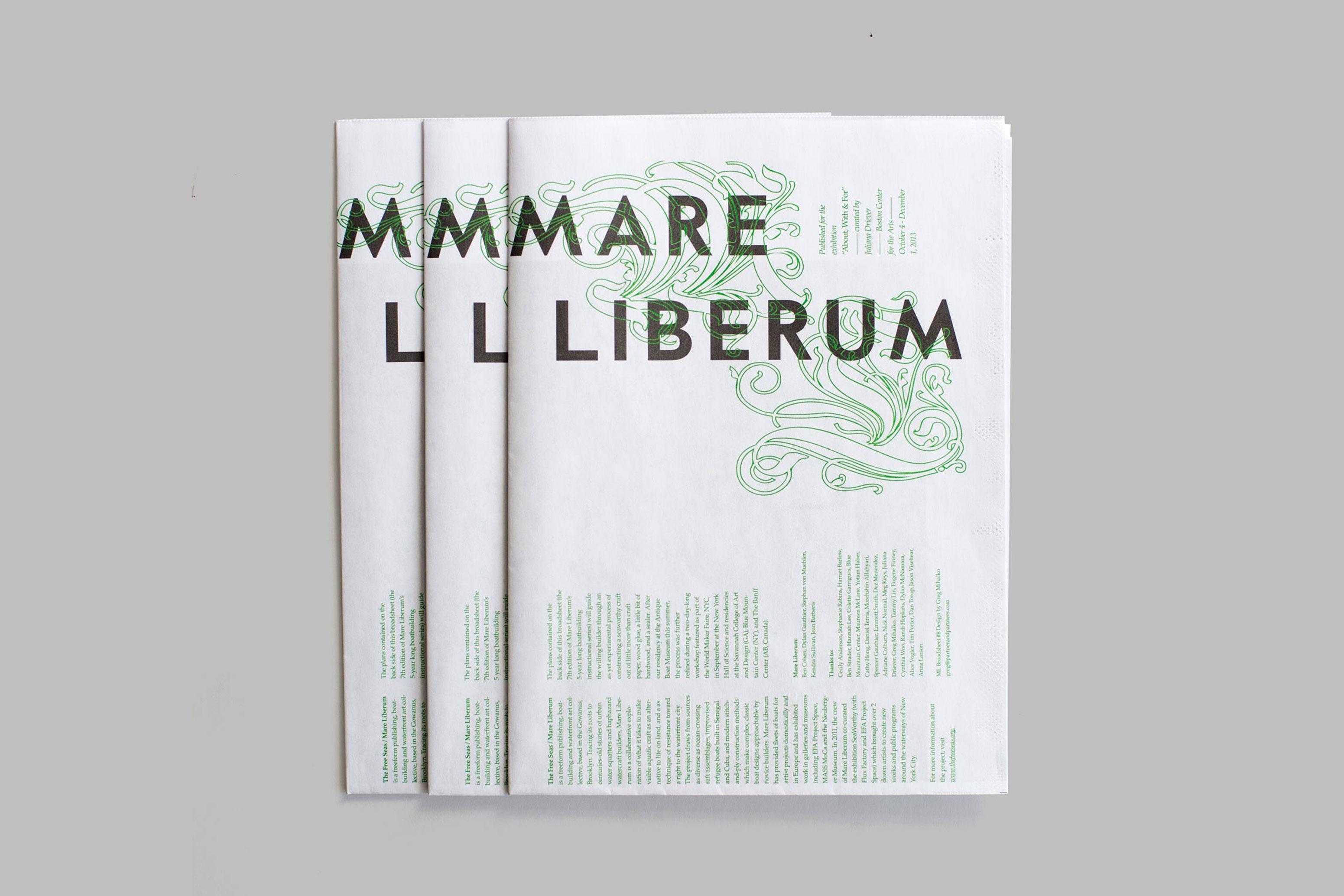 Cover of the Mare Liberum broadsheet