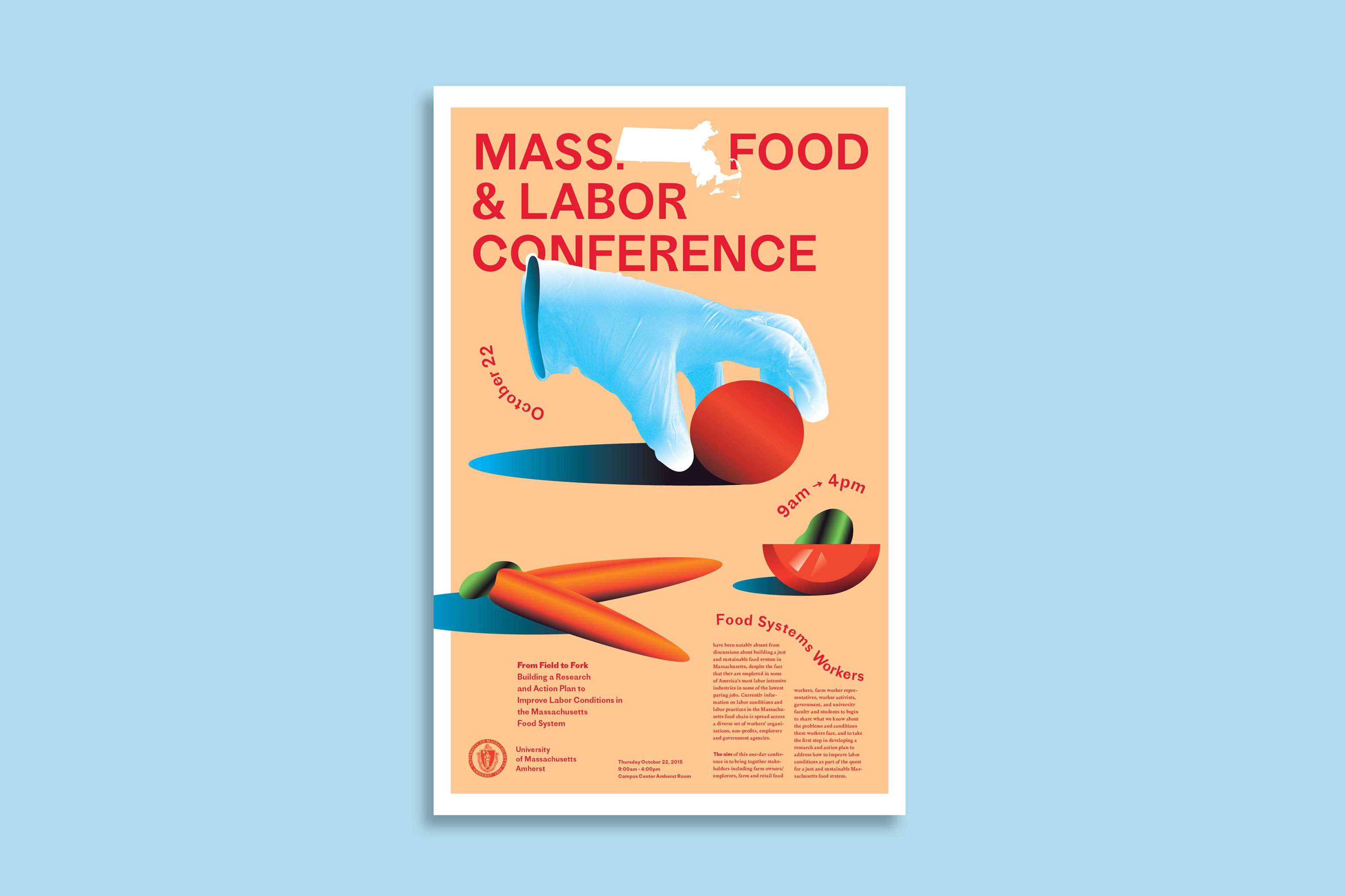 Massachusetts Food & Labor Conference Poster