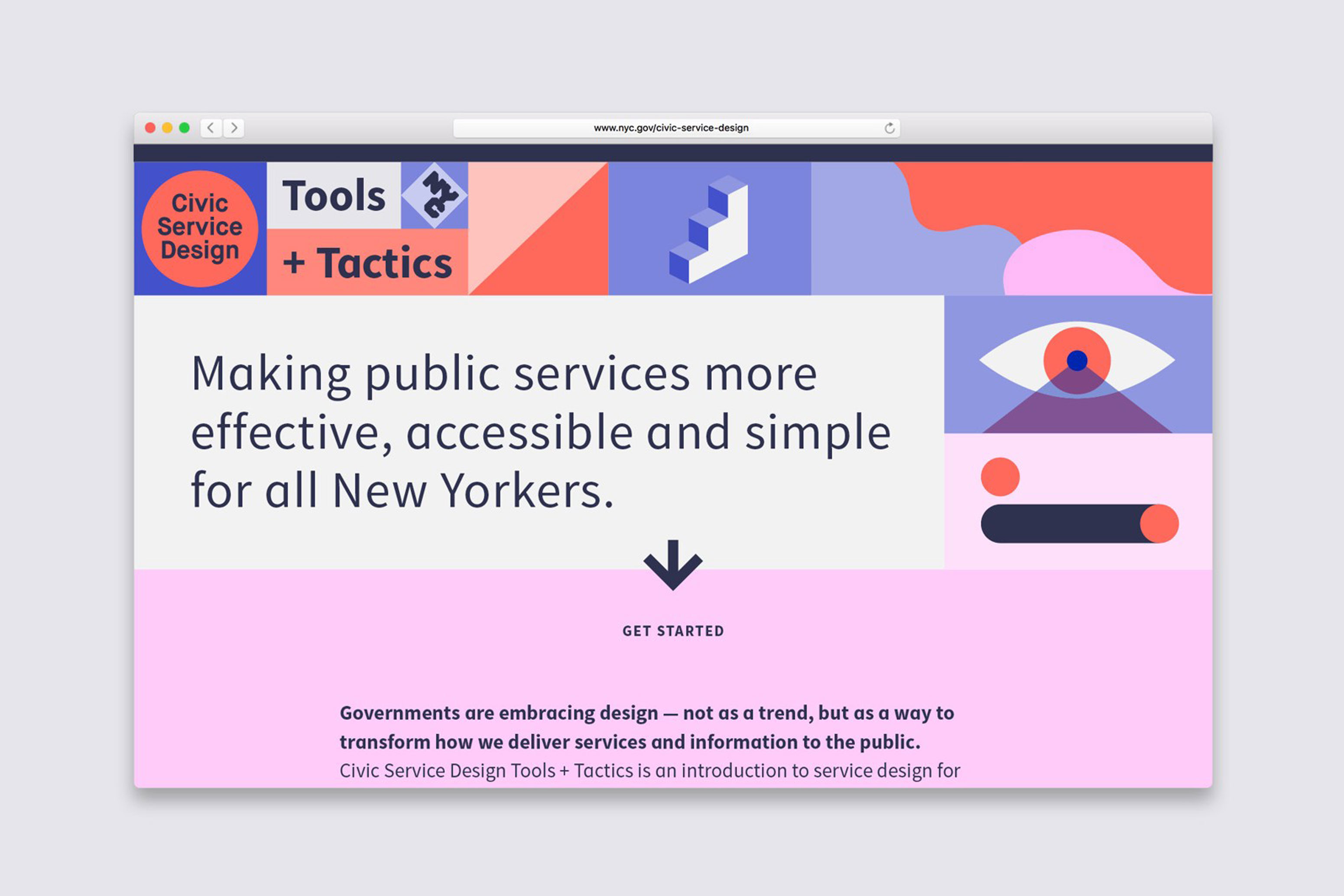 Civic Service Design Website