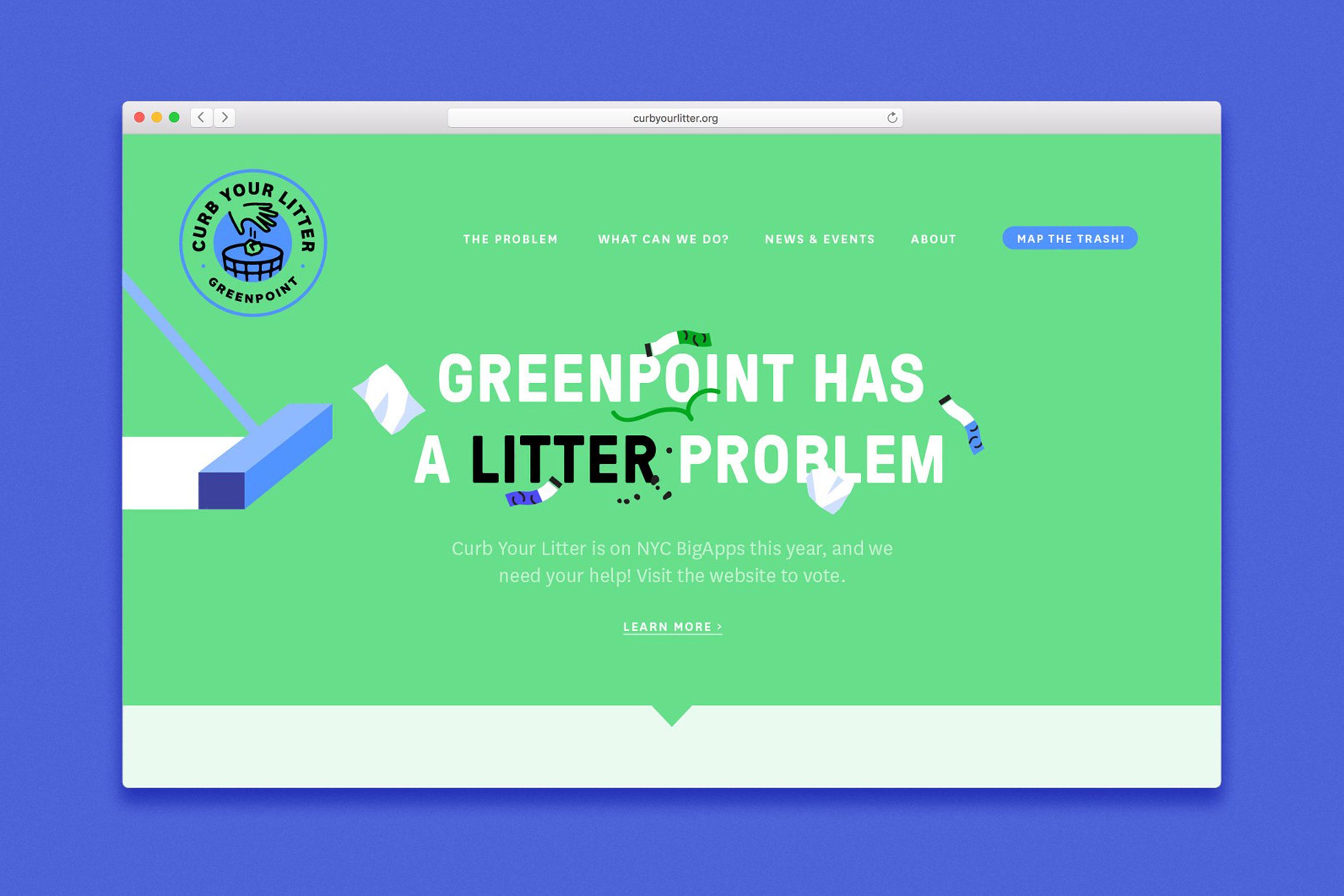 Curb Your Litter Website