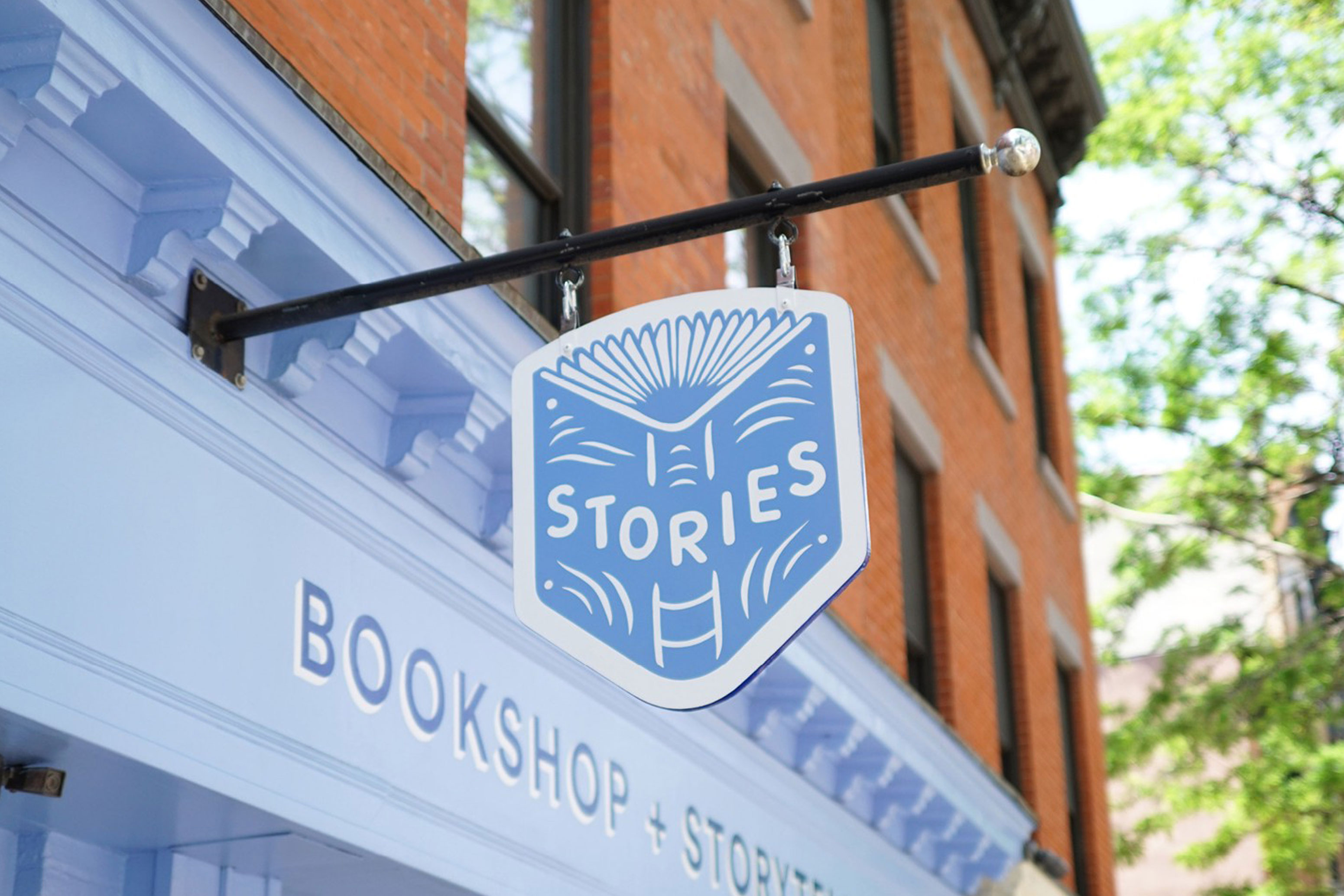 Stories Bookstore Exterior Sign