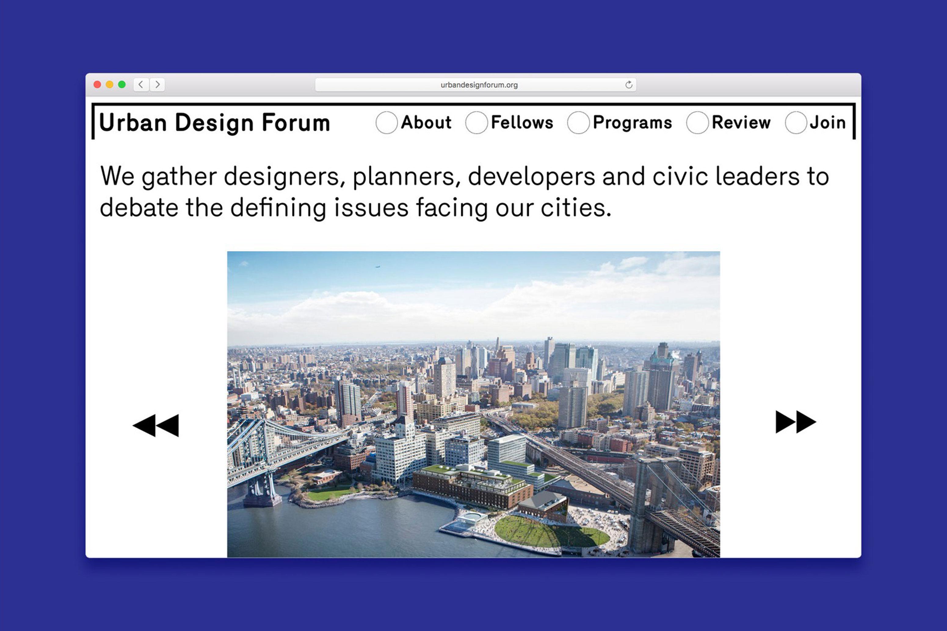 Urban Design Forum Website