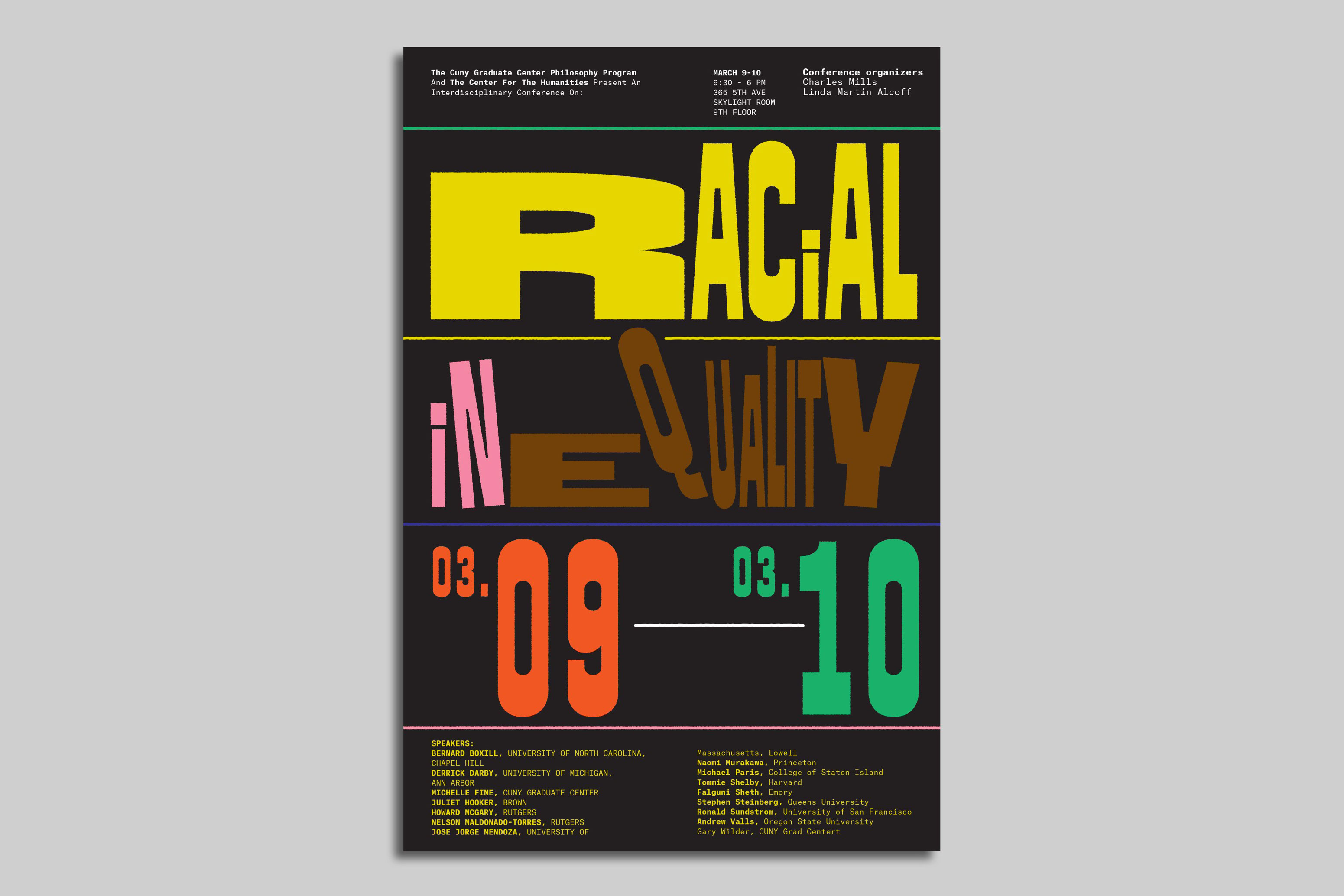 Poster for Center for the Humanities' Racial Inequality Conference