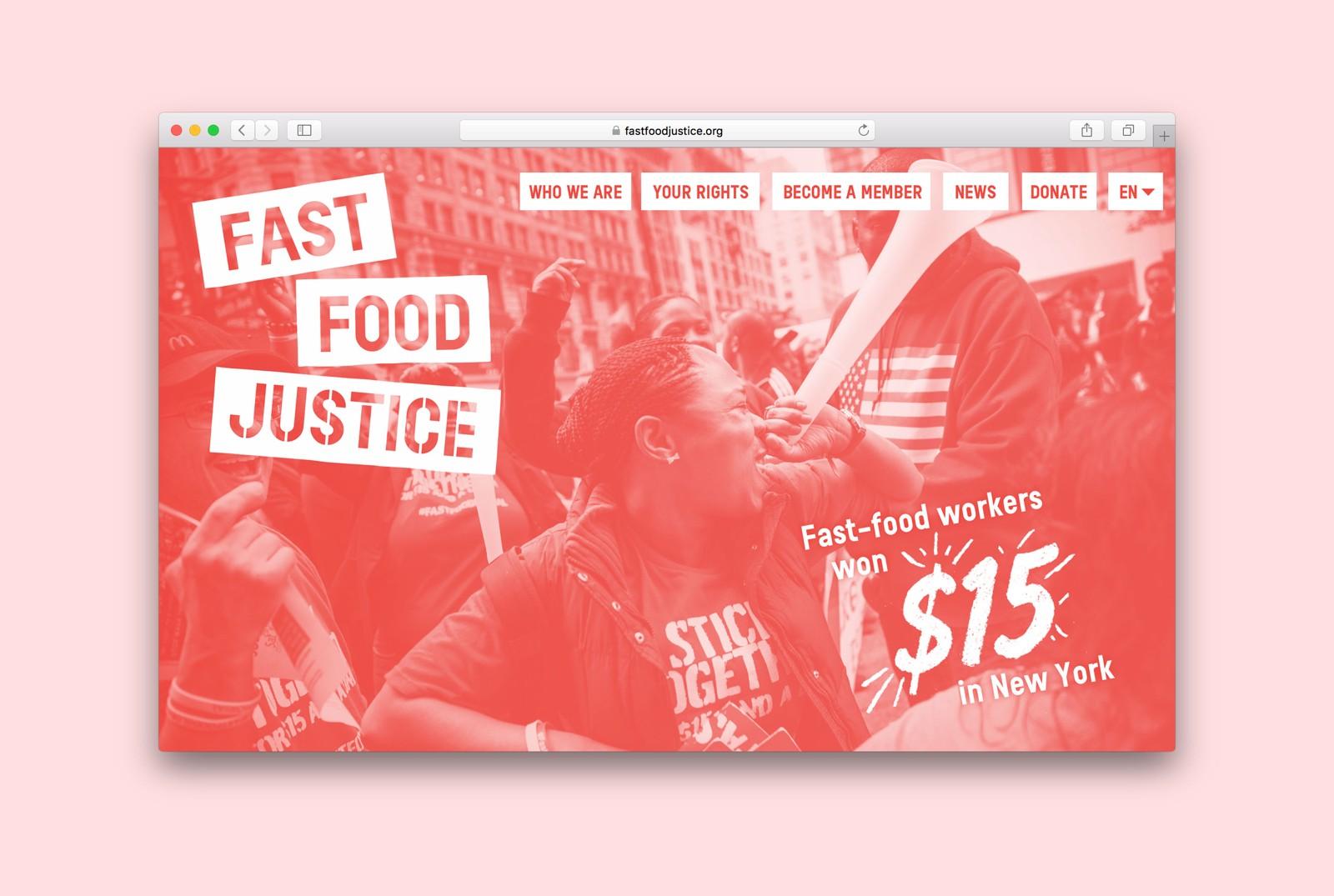 Fast Food Justice Homepage