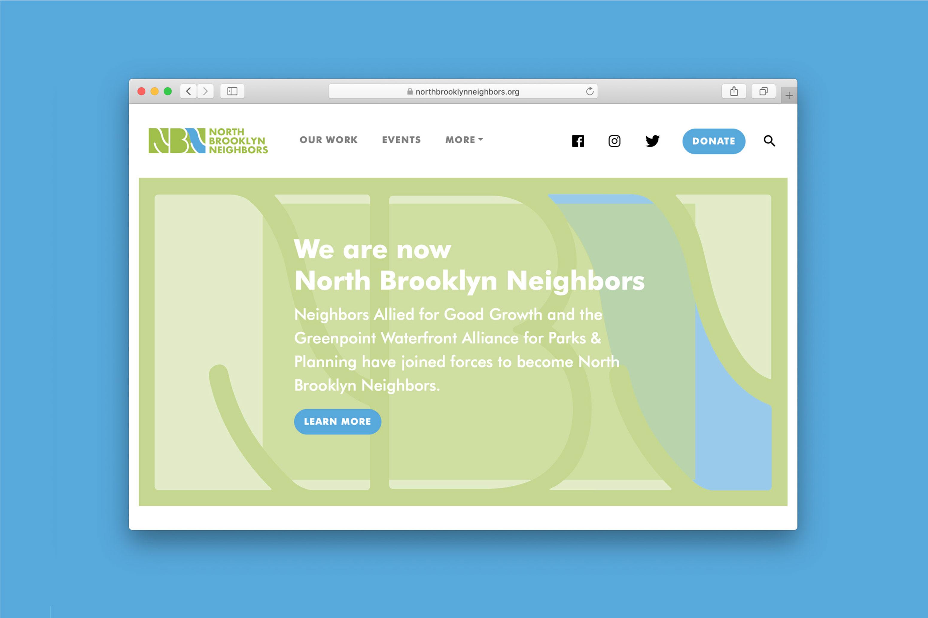 North Brooklyn Neighbors Website Homepage