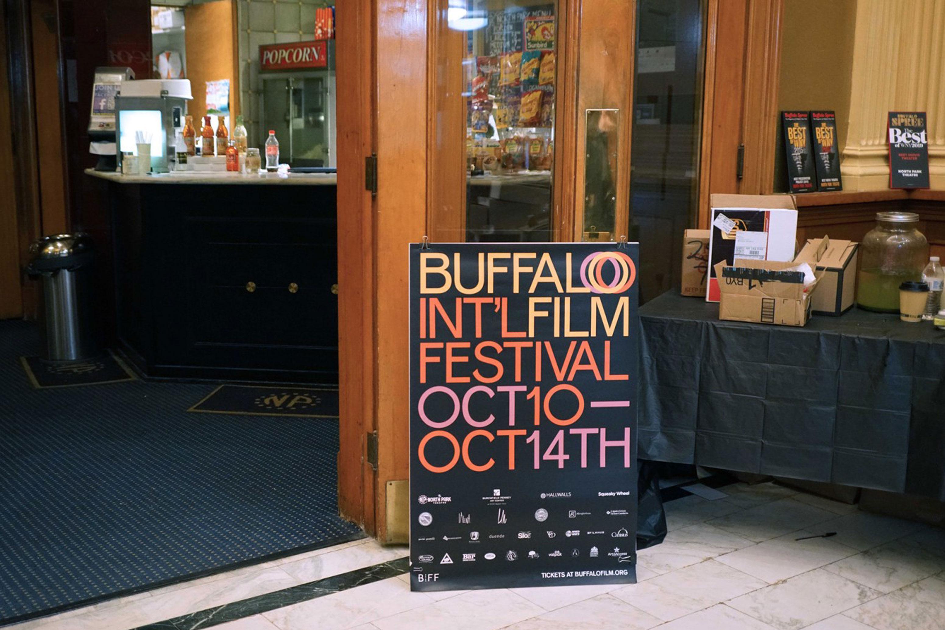 Buffalo International Film Festival Sign & Entrance