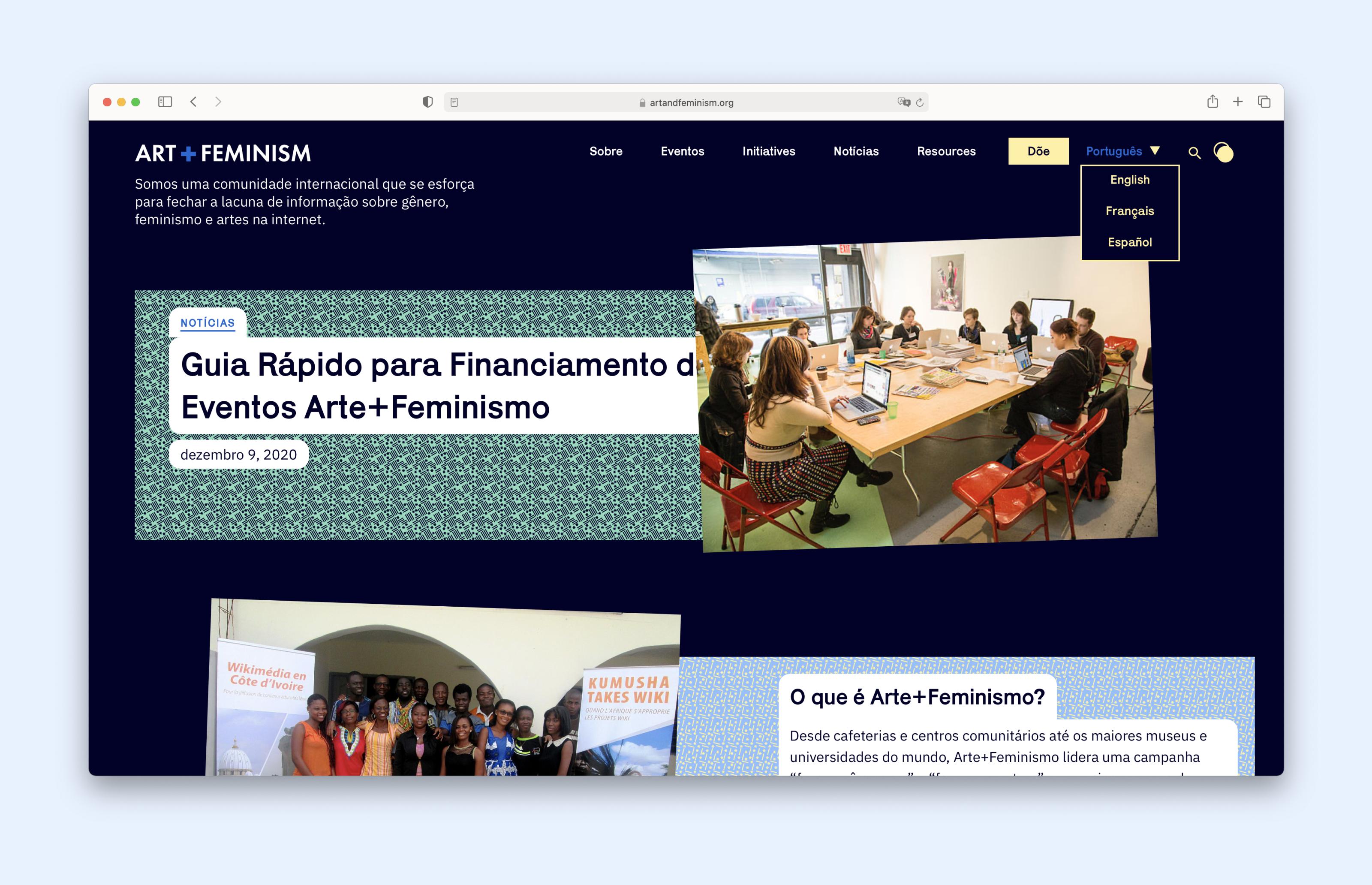 Art+Feminism Website