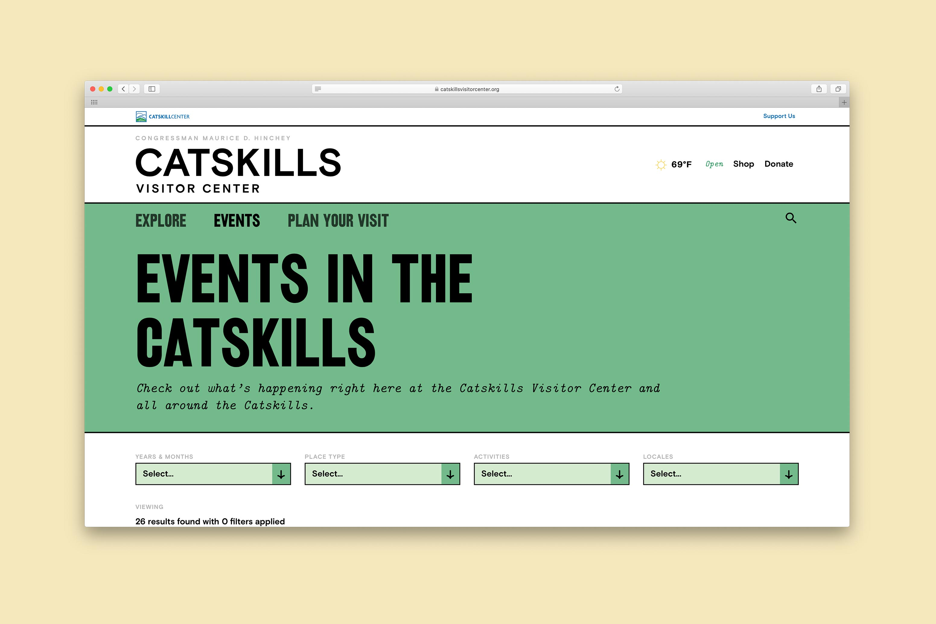 Catskills Website Events