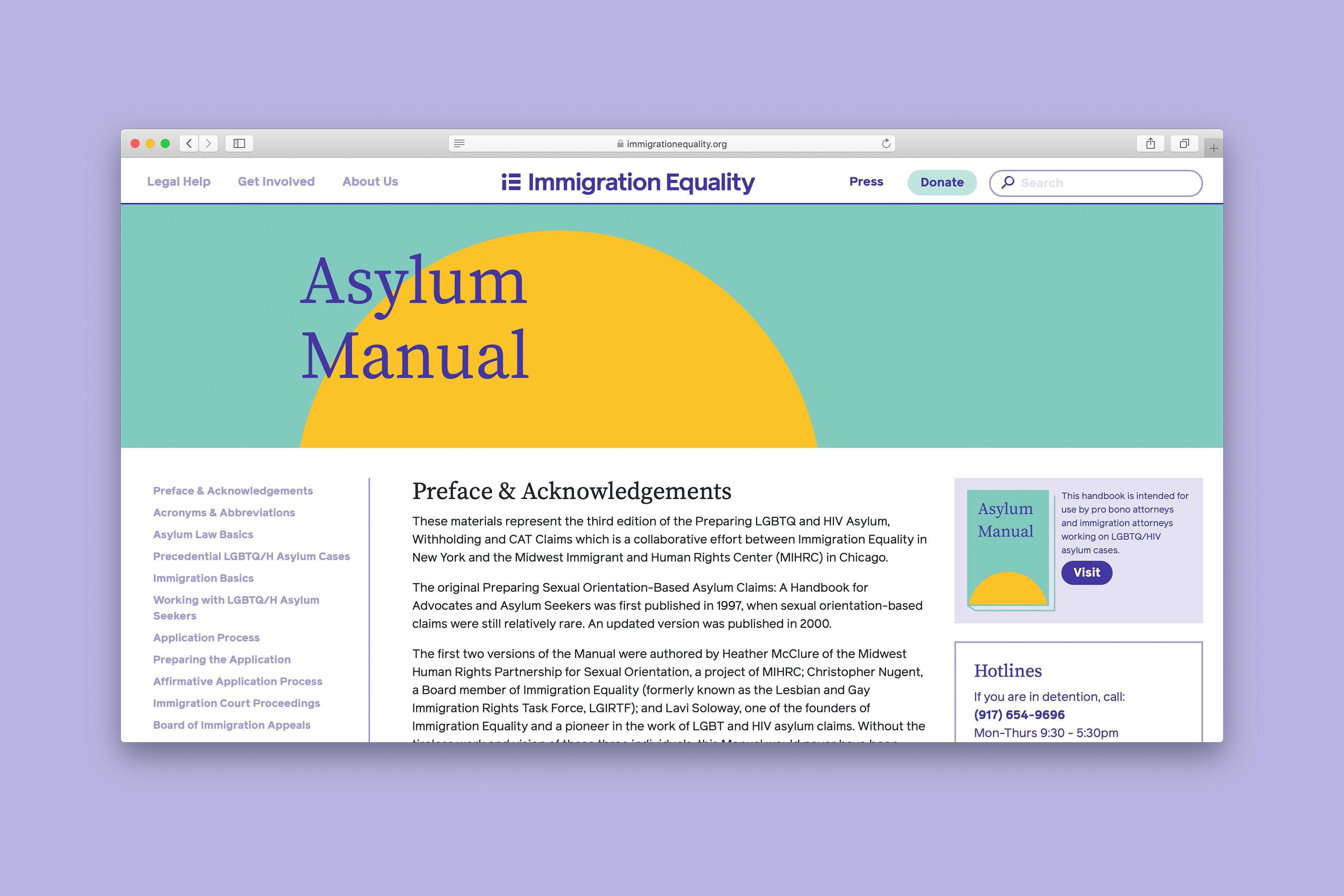 Asylum Manual Page
