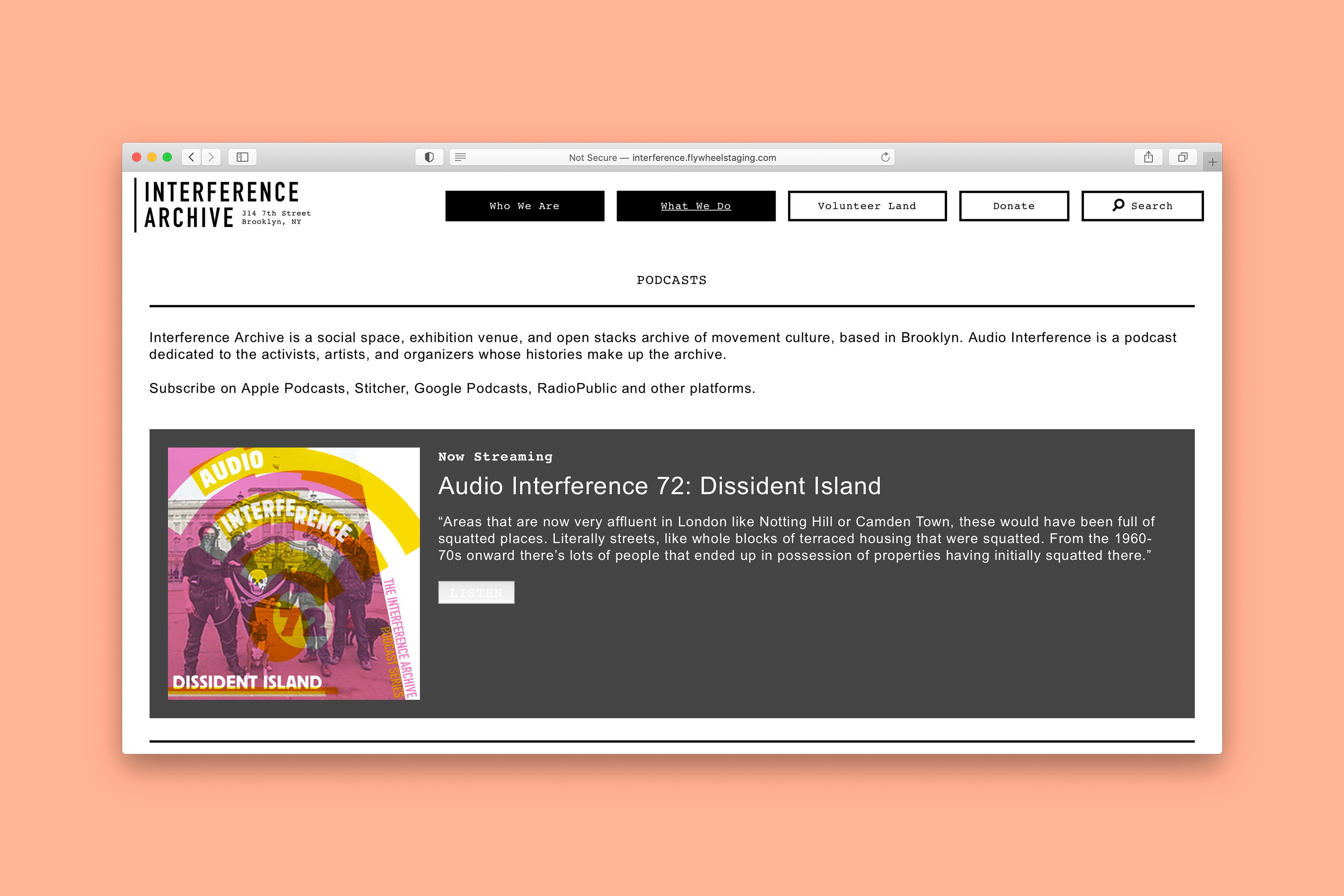 Interference Archive Website