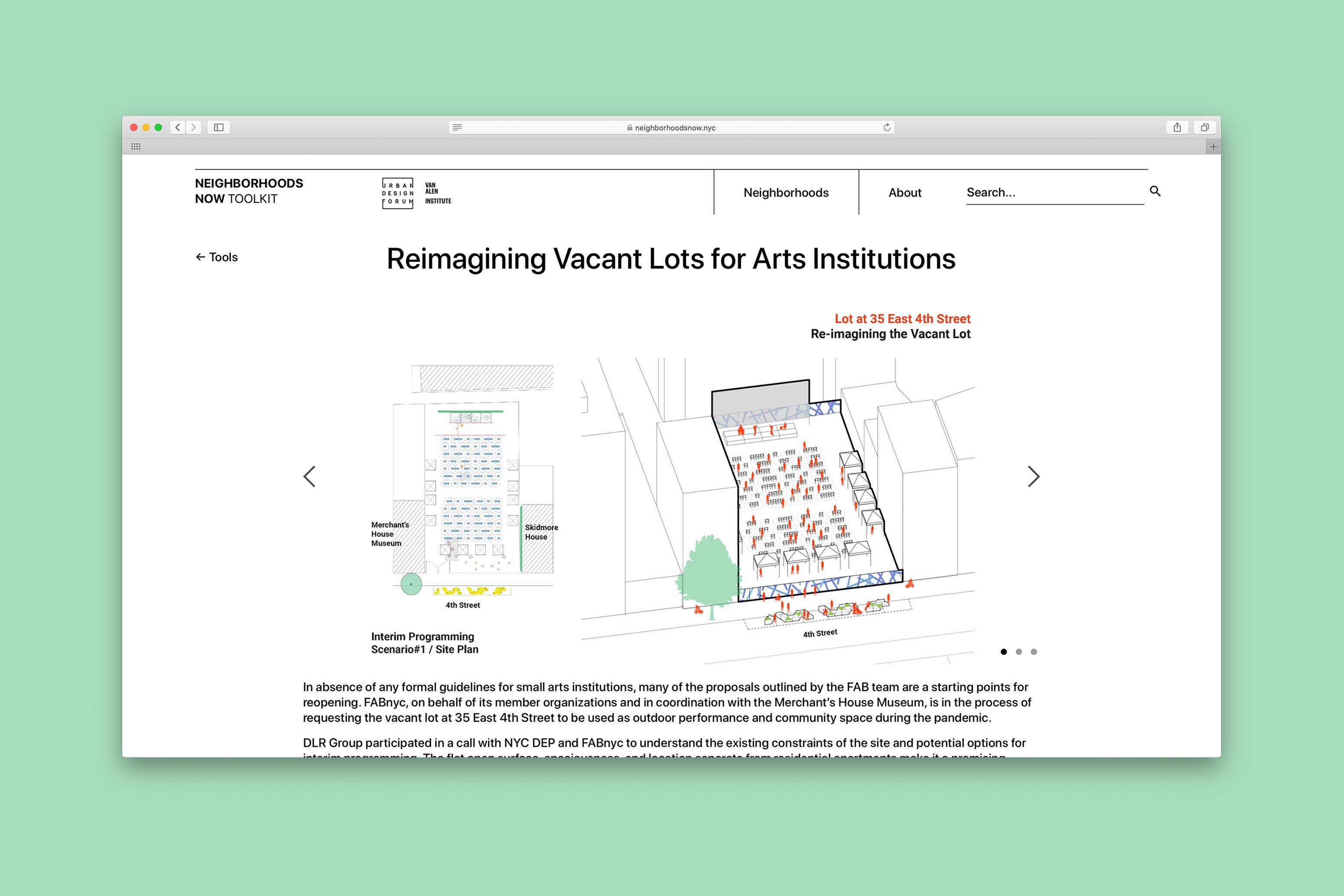 Neighborhoods Now Website