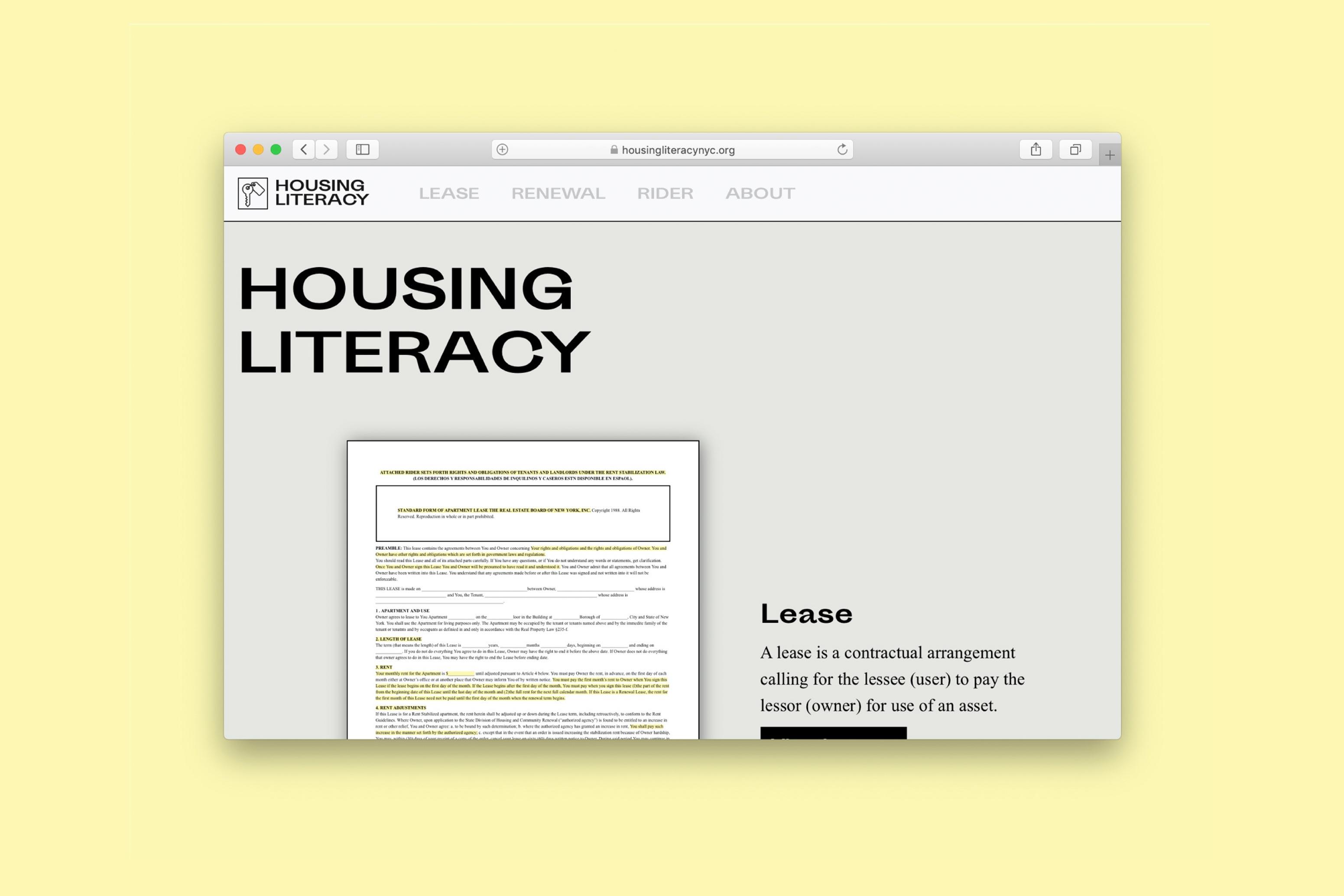 Housing Literacy Website