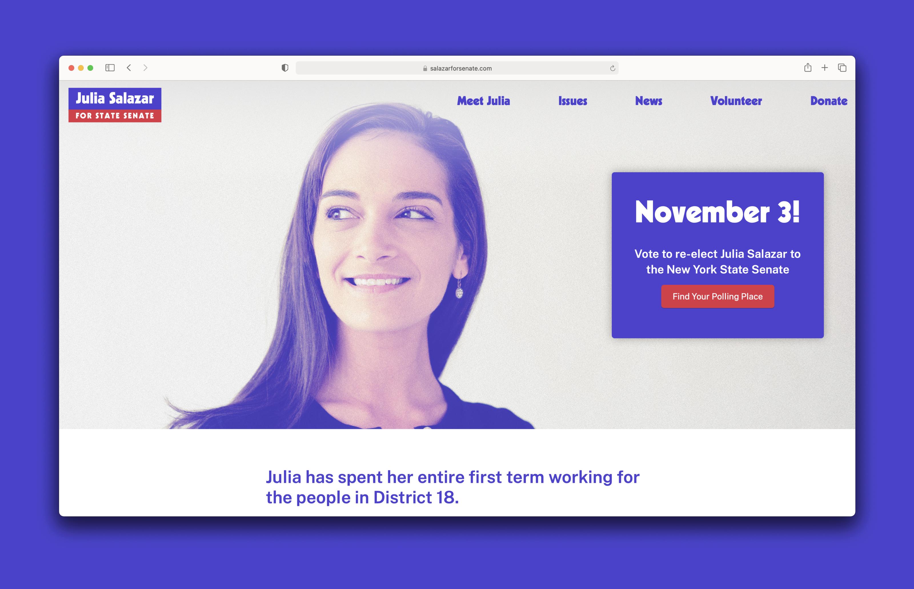 Salazar for Senate Website Homepage